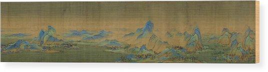 Detail Of A Thousand Li Of River Wood Print