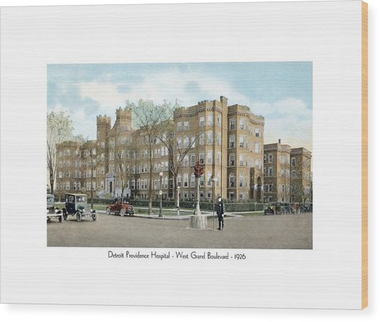 Detroit - Providence Hospital - West Grand Boulevard - 1926 Wood Print