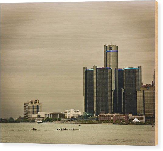 Detroit River Wood Print by Winnie Chrzanowski