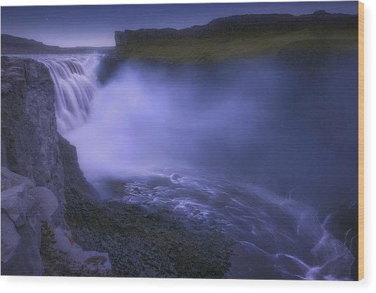 Dettifoss Waterfall Wood Print