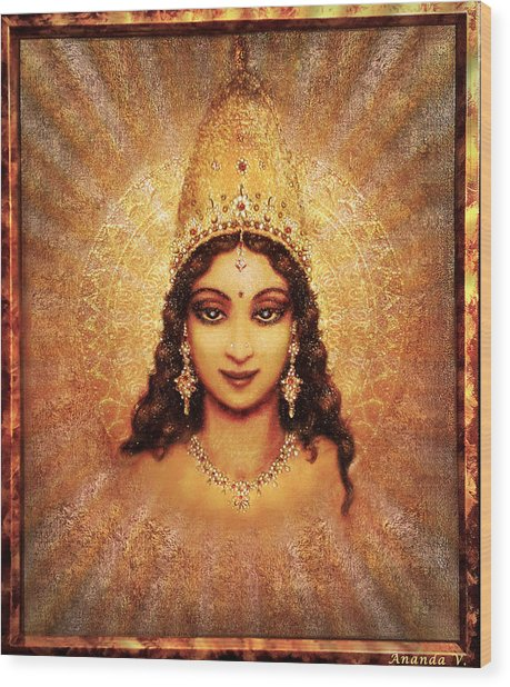 Devi Darshan Wood Print by Ananda Vdovic