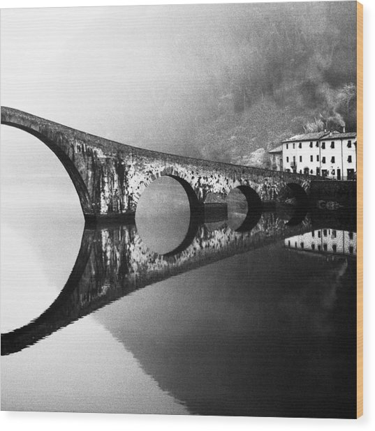 Devil's Bridge Wood Print by Franco Maffei