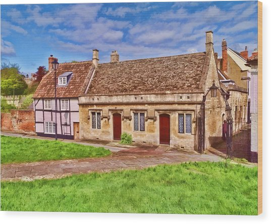 Devizes Cottages Wood Print