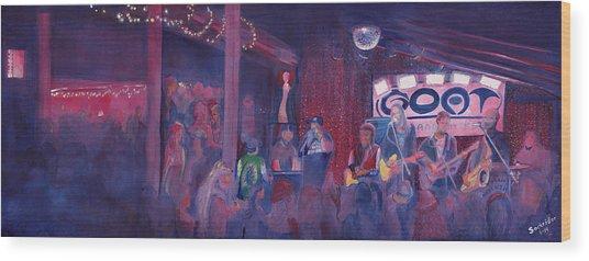 Dewey Paul Band At The Goat Nye Wood Print