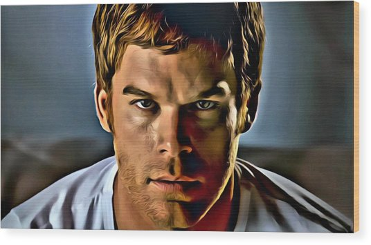 Dexter Portrait Wood Print