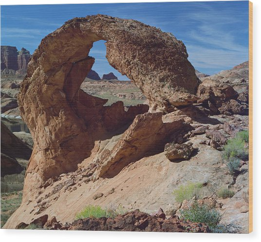 Diagenetic Arch-h Wood Print