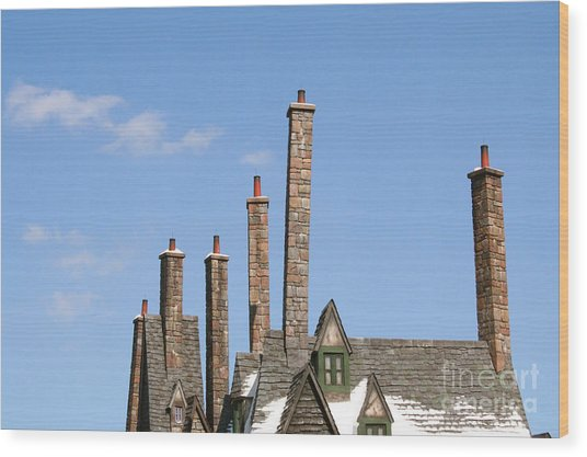 Diagon Alley Chimney Stacks Wood Print