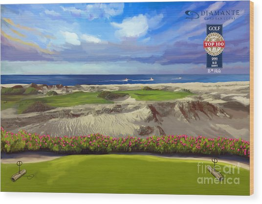 Diamante Dunes Cabo 16th Wood Print