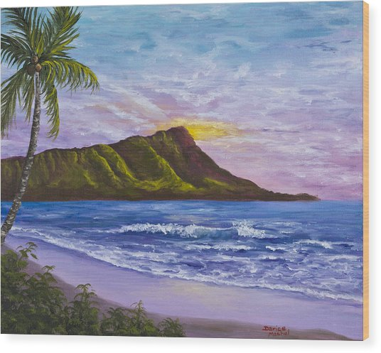 Diamond Head Wood Print