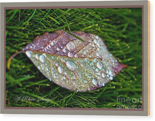 Diamond Leaf Shimmer Wood Print