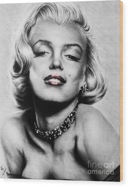 Diamonds Are A Girls Best Friend   Hot Lips Edition Wood Print