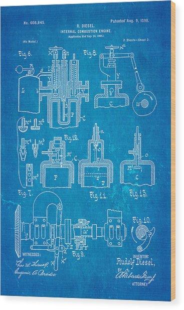 Diesel internal combustion engine patent art 1898 blueprint diesel internal combustion engine patent art 1898 blueprint wood print by ian monk malvernweather Images