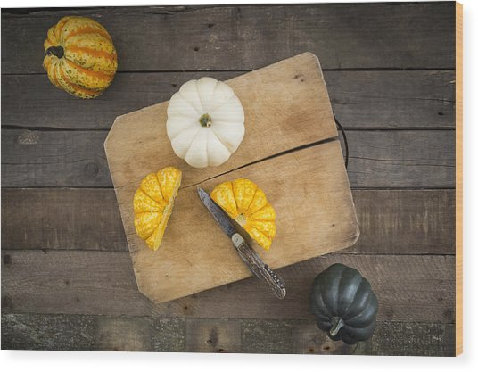Different Sorts Of Mini Squashes Wood Print by Westend61