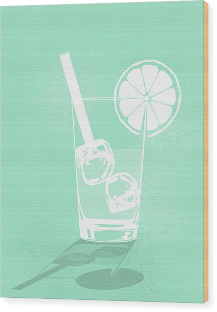 Digital Composite Image Of Cold Drink Wood Print by Malte Mueller