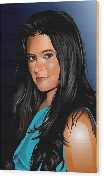 Digital Danica  Wood Print