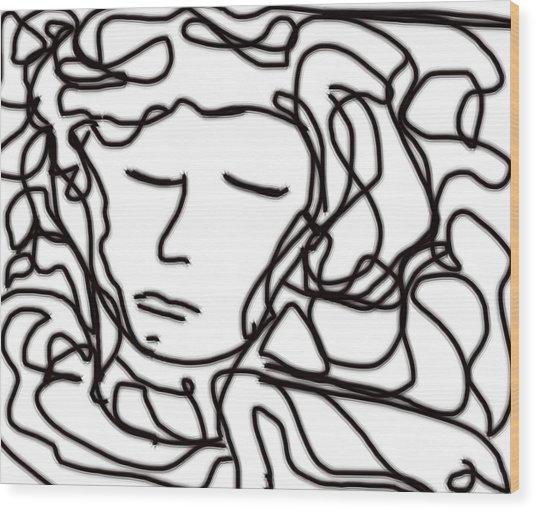 Digital Doodle Wood Print