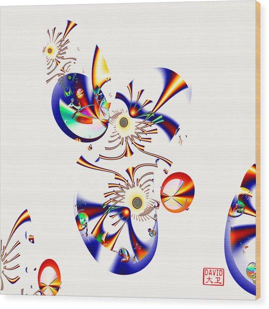 Digital Picasso - Tweet Tweet Wood Print