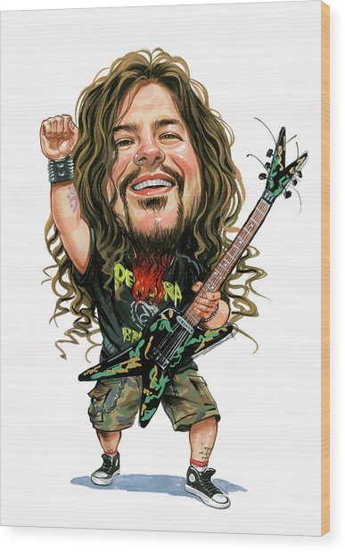 Dimebag Darrell Wood Print by Art
