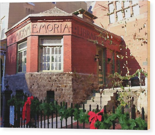 Dimmick Memorial Library In Jim Thorpe Pa - Abstract Wood Print by Jacqueline M Lewis