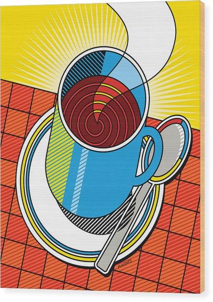 Diner Coffee Wood Print