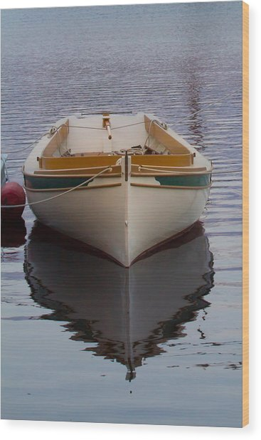 Dinghy Reflection  Wood Print