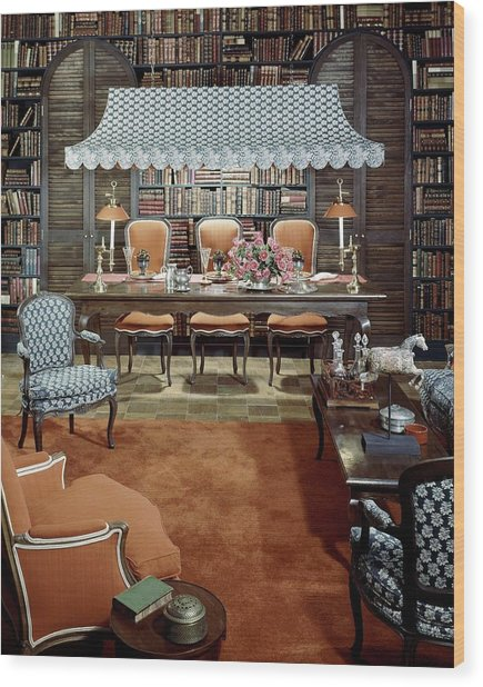 Dining Room Which Doubles As A Study Wood Print