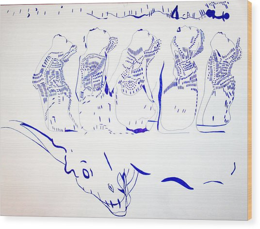 Dinka Wise Virgins -south Sudan Wood Print