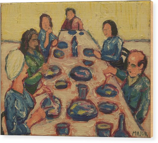 Dinner Party Wood Print