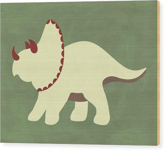 Dino 4 Wood Print