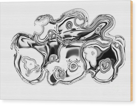 Discover Black And White Wood Print by George Zhouf