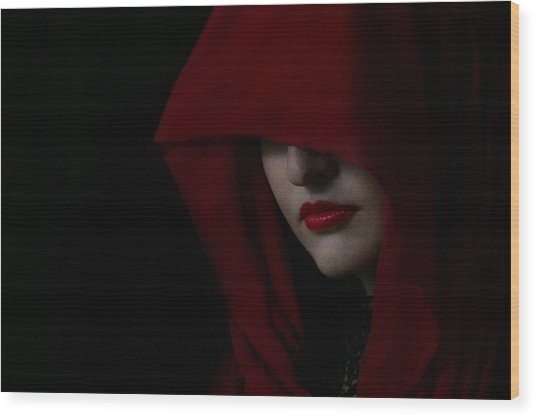 Disguised In Red Wood Print