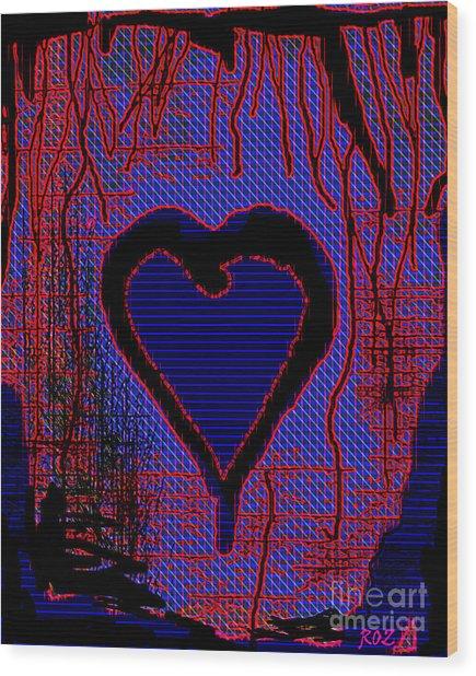Disintegration Wood Print