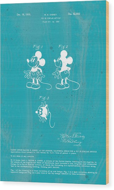 Disney Mickey Mouse Wood Print