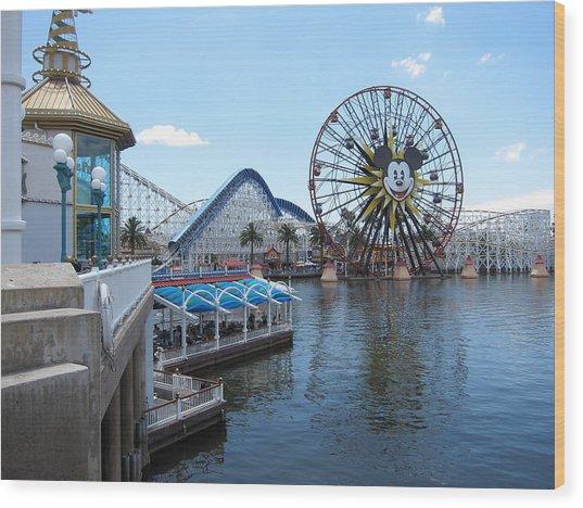 Disneyland Park Anaheim - 121253 Wood Print