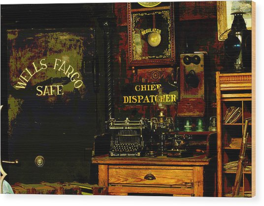 Dispatcher's Office Wood Print