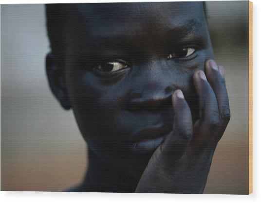 Displaced Sudanese Teenager Wood Print