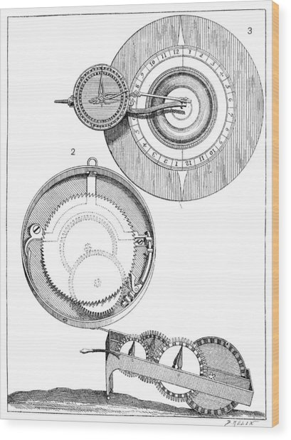Distance-measuring Devices, 1893 Wood Print by Science Photo Library