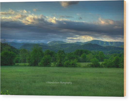 Distant Range Wood Print by Paul Herrmann