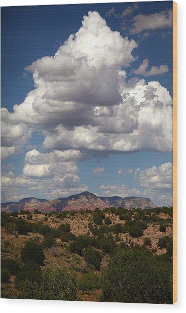 Distant Sedona Wood Print