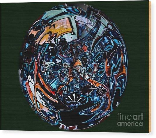Distorted Earth - No.8345 Wood Print
