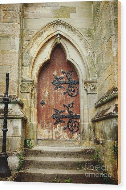 Distressed Door Wood Print