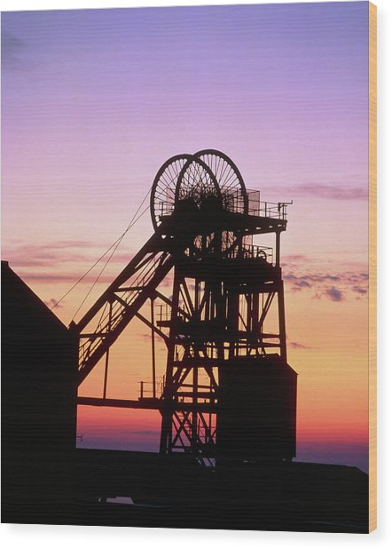 Disused Pit Head In Whitehaven Wood Print by Martin Bond/science Photo Library