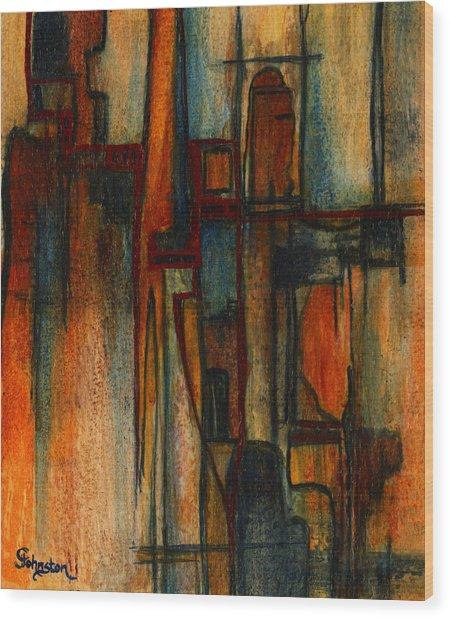 Divergence Wood Print