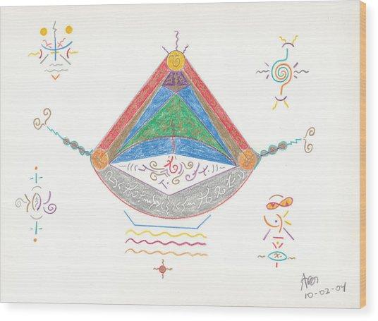 Divine Balance Wood Print
