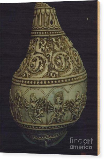 Divine Conch Hindu God Varaha Wood Print