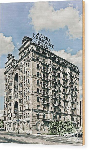Divine Lorraine Hotel Wood Print