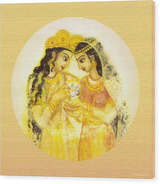 Divine Love - Detail Wood Print