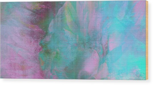 Wood Print featuring the mixed media Divine Substance - Abstract Art by Jaison Cianelli