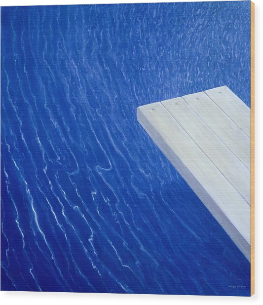 Diving Board 2004 Wood Print