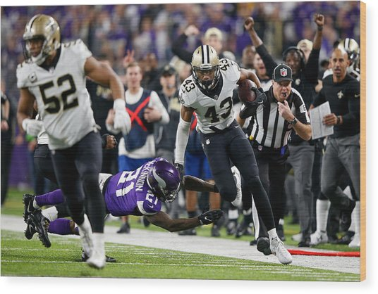 Divisional Round - New Orleans Saints V Minnesota Vikings Wood Print by Jamie Squire